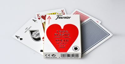 Fournier Poker 2500, plastic, red